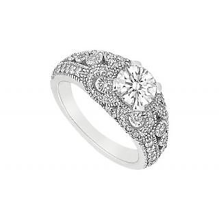 LoveBrightJewelry In Fashion 14K White Gold & Diamond Engagement Ring-1.00 CT