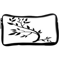 Snoogg  Design Element Graphic Drawing Of A Brunch With LeavesPoly Canvas  Multi Utility Travel Pouch