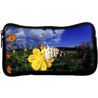 Snoogg Cool Butterfly Poly Canvas  Multi Utility Travel Pouch