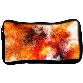 Snoogg Crazy Fire Poly Canvas  Multi Utility Travel Pouch