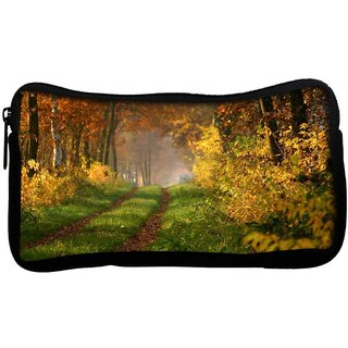 Snoogg Small Way In Forest Poly Canvas  Multi Utility Travel Pouch