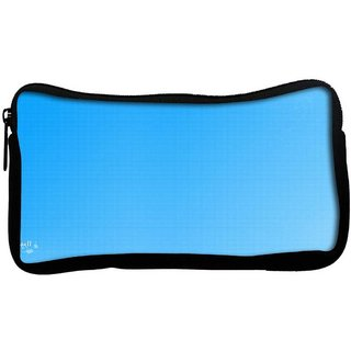 Snoogg Blue No Wall Poly Canvas  Multi Utility Travel Pouch