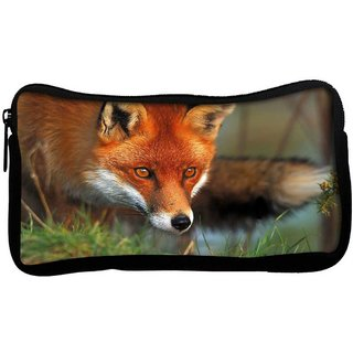 Snoogg Watching Fox Poly Canvas  Multi Utility Travel Pouch