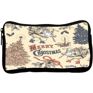 Snoogg Merry Christmas Poly Canvas S Multi Utility Travel Pouch