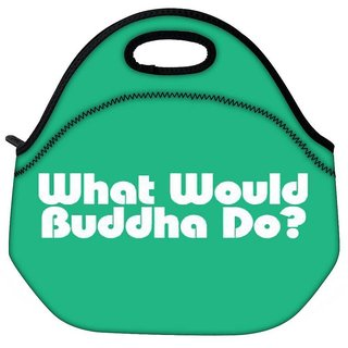 Snoogg What Would Buddha Do 2907 Travel Outdoor Tote Lunch Bag