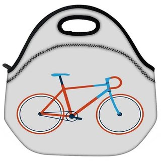 Snoogg Minimal Cycle Ride Designer Protective Back Case Cover For Oneplus 3 Travel Outdoor Tote Lunch Bag