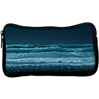 Snoogg Sea At Night Beach Poly Canvas  Multi Utility Travel Pouch