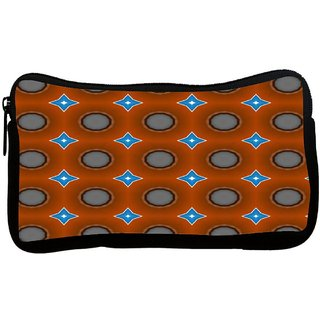 Snoogg Blue Stars Brown Pattern Poly Canvas S Multi Utility Travel Pouch