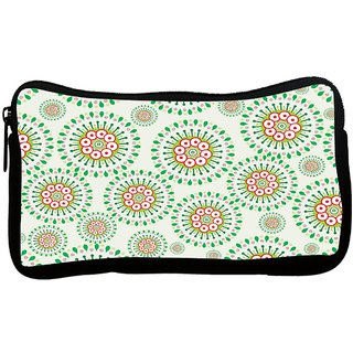 Snoogg Mixed Green Pattern Poly Canvas S Multi Utility Travel Pouch
