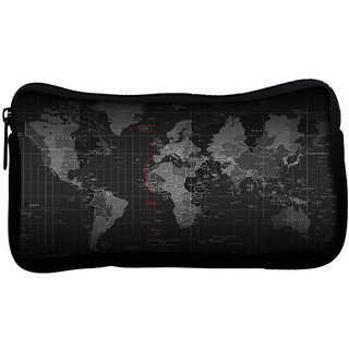 Snoogg Black Earth Poly Canvas  Multi Utility Travel Pouch