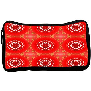 Snoogg Red Circles Pattern Design Poly Canvas S Multi Utility Travel Pouch