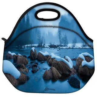 Snoogg Cool Wallpaper Widescreen Travel Outdoor Tote Lunch Bag
