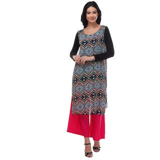 Varanga Multicolor Printed Chiffon Stitched Kurti
