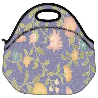 Snoogg Floral Pattern Travel OutdoorTote Lunch Bag
