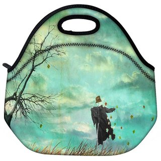 Snoogg Scare Crow Travel Outdoor Tote Lunch Bag