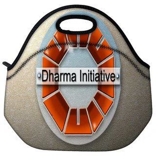 Snoogg Dharma Initiative Travel Outdoor Tote Lunch Bag