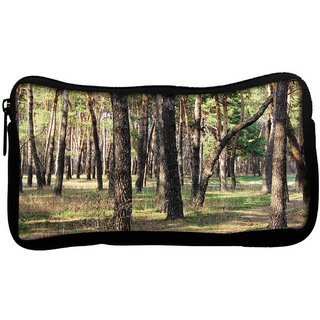 Snoogg Summer Forest Poly Canvas  Multi Utility Travel Pouch