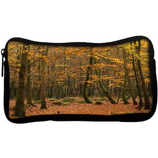 Snoogg Yellow Leaves Poly Canvas  Multi Utility Travel Pouch