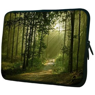 Snoogg Small Trees 10.2 Inch Soft Laptop Sleeve