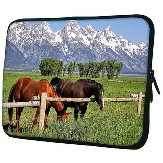 Snoogg Lite And Brown Horse 10.2 Inch Soft Laptop Sleeve