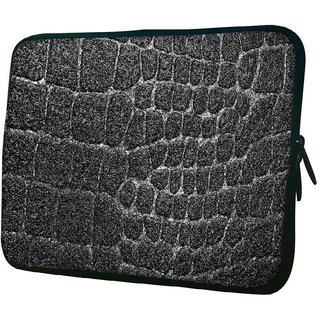 Snoogg Black Stones 1010.2 Inch Soft Laptop Sleeve