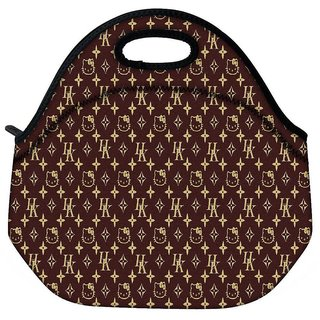 Snoogg Multiple Cat Art Design Travel Outdoor Tote Lunch Bag