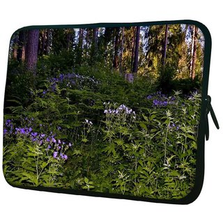 Snoogg Green And Purple Plants 10.2 Inch Soft Laptop Sleeve