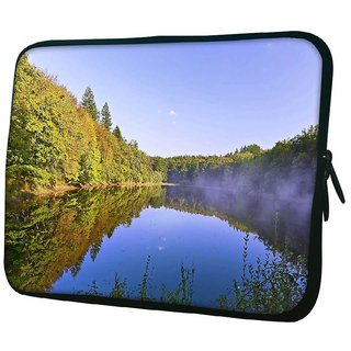 Snoogg River And Forest 10.2 Inch Soft Laptop Sleeve