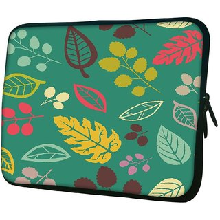 Snoogg Colorful Leaves 1010.2 Inch Soft Laptop Sleeve