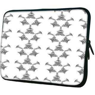 Snoogg Small Robot White 1010.2 Inch Soft Laptop Sleeve