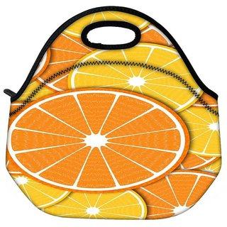 Snoogg Orange Fever 2372 Travel Outdoor Tote Lunch Bag