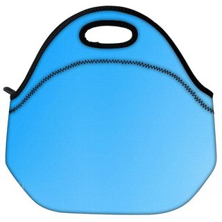 Snoogg Blue No Wall Travel Outdoor Tote Lunch Bag