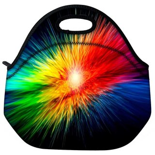 Snoogg Multicolor Abstract Design Travel Outdoor Tote Lunch Bag