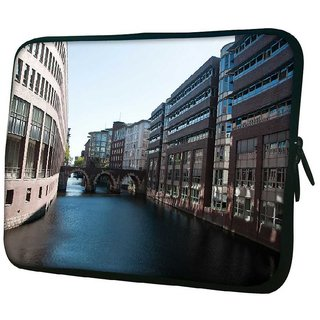 Snoogg Lake View City 10.2 Inch Soft Laptop Sleeve