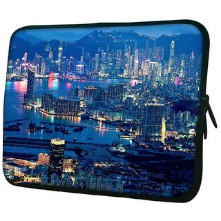 Snoogg Lake Side City 10.2 Inch Soft Laptop Sleeve