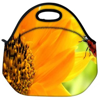 Snoogg Beatel In Yellow Travel Outdoor Tote Lunch Bag