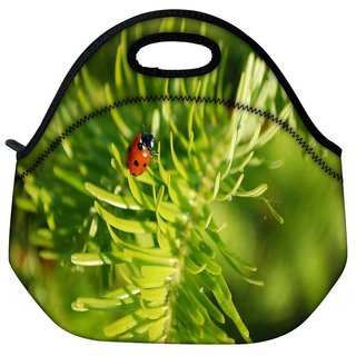 Snoogg Beatel In Leaf Travel Outdoor Tote Lunch Bag