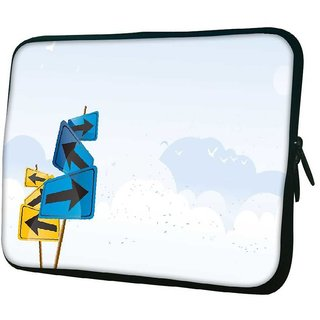 Snoogg Left And Right 10.2 Inch Soft Laptop Sleeve
