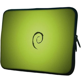 Snoogg E On Green Pattern Design 10.2 Inch Soft Laptop Sleeve