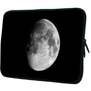 Snoogg Abstract Grey Moon 10.2 Inch Soft Laptop Sleeve
