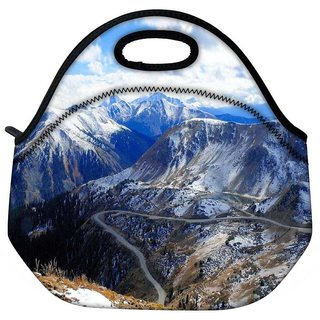 Snoogg Snowy Hills Travel Outdoor Tote Lunch Bag