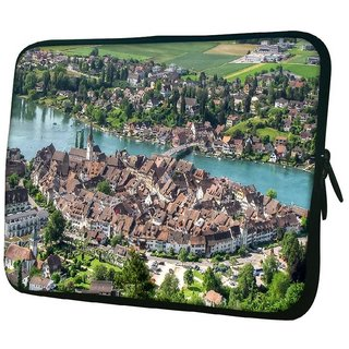 Snoogg Abstract City 10.2 Inch Soft Laptop Sleeve