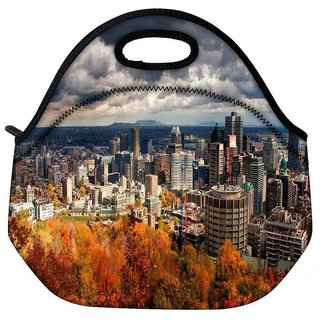 Snoogg Autumn Cityscapes Travel Outdoor Tote Lunch Bag