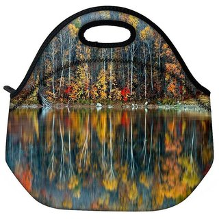 Snoogg Golden Reflection Nature Travel Outdoor Tote Lunch Bag
