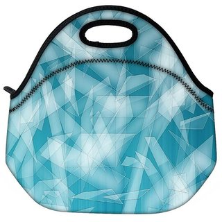 Snoogg Pattern Shapes Travel Outdoor Tote Lunch Bag