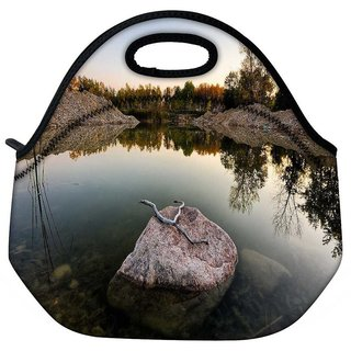 Snoogg Rock In The River Travel Outdoor Tote Lunch Bag