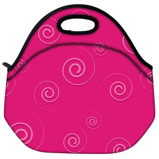 Snoogg Pink Pattern Travel Outdoor CTote Lunch Bag