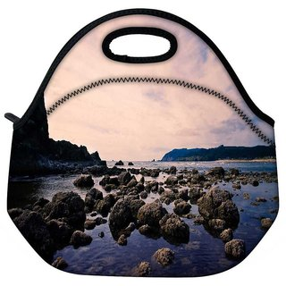 Snoogg Stones In The Sea Travel Outdoor Tote Lunch Bag