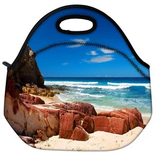 Snoogg Hot Sunny Beach Travel Outdoor Tote Lunch Bag
