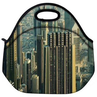 Snoogg Developed City Travel Outdoor Tote Lunch Bag